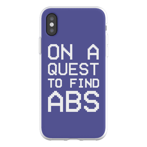 On A Quest To Find Abs Phone Flexi-Case