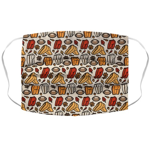 Fall Football Butts  Accordion Face Mask