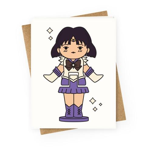 Sailor Saturn Pocket Parody Greeting Card