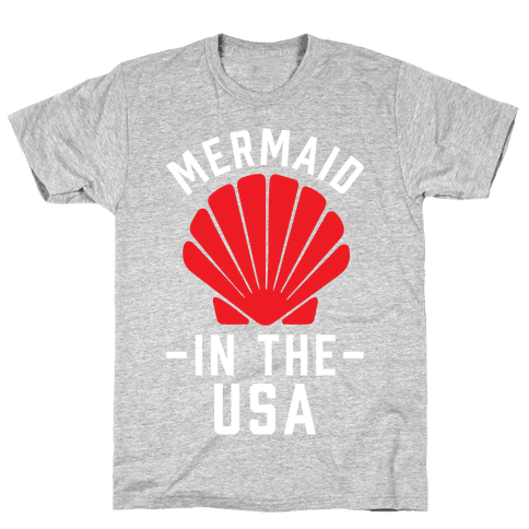Mermaid In The USA Mens T-Shirt