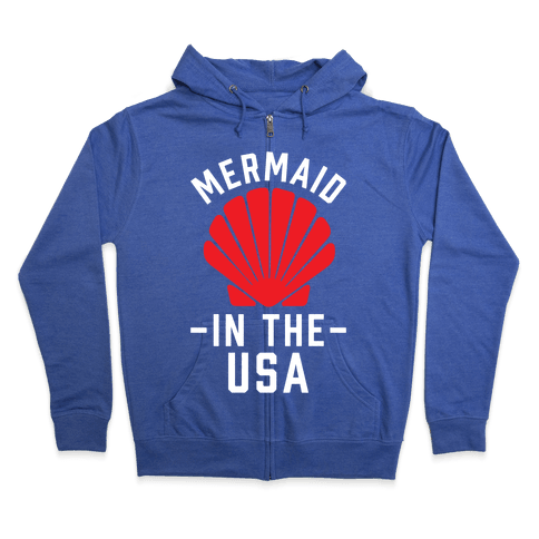 Mermaid In The USA Zip Hoodie