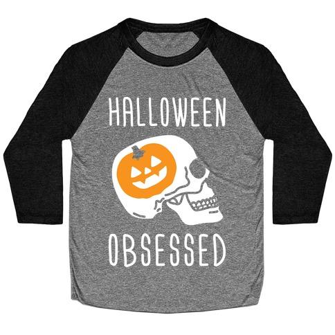Halloween Obsessed Baseball Tee