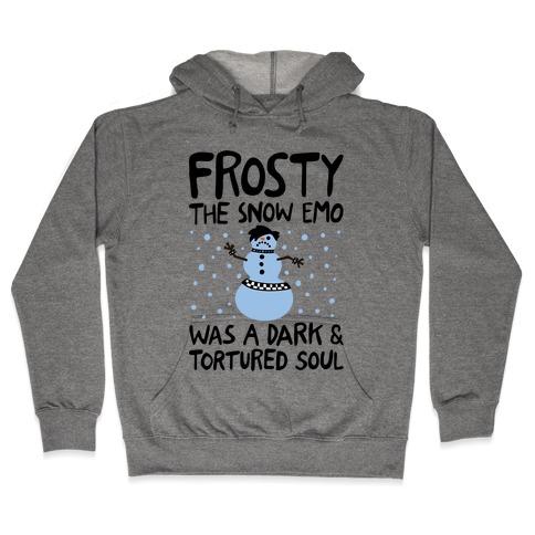 Frosty The Snow Emo Parody Hooded Sweatshirt
