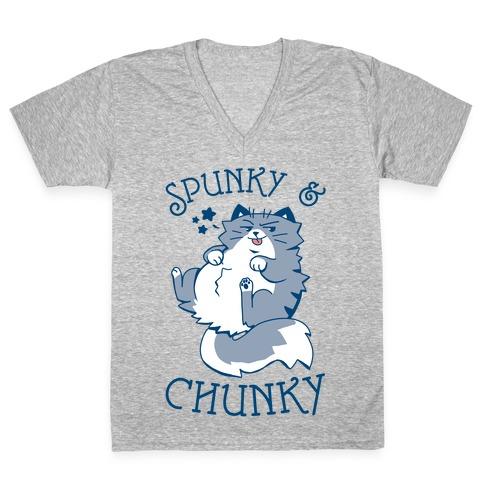 Spunky & Chunky V-Neck Tee Shirt