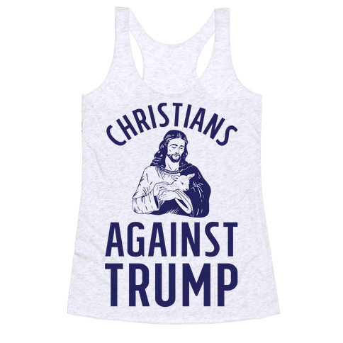 Christians Against Trump Racerback Tank Top