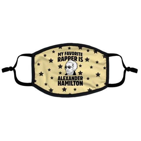 My Favorite Rapper is Alexander Hamilton Flat Face Mask