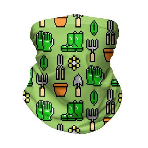 Pixel Gardening Tool Pattern Neck Gaiter