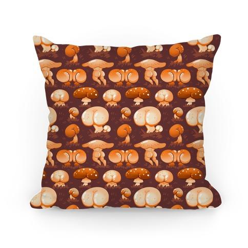 Butt Mushroom Pattern orange Pillow