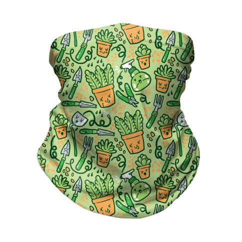 Kawaii Plants and Gardening Tools Neck Gaiter