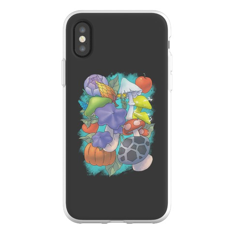 Hylian Shrooms and Veggies Phone Flexi-Case