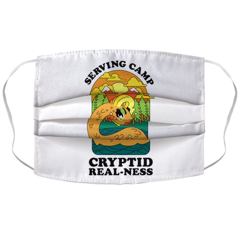 Serving Camp Cryptid Real-Ness Accordion Face Mask