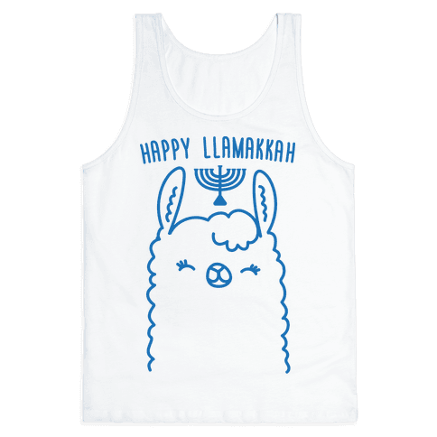 Happy Llamakkah Tank Top