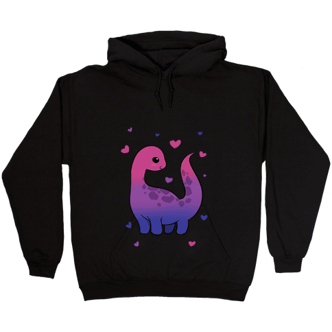 Bisexual-Dino Hooded Sweatshirt