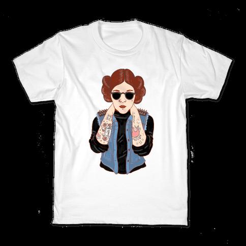 Punk Leia Parody Kids T-Shirt