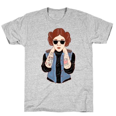 Punk Leia Parody T-Shirt