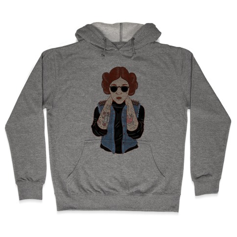 Punk Leia Parody Hooded Sweatshirt