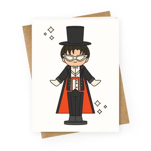 Tuxedo Mask Pocket Parody Greeting Card