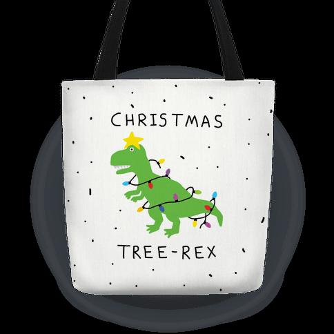 Christmas Tree Rex Tote