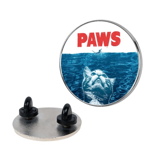 PAWS (Jaws Parody) Pin