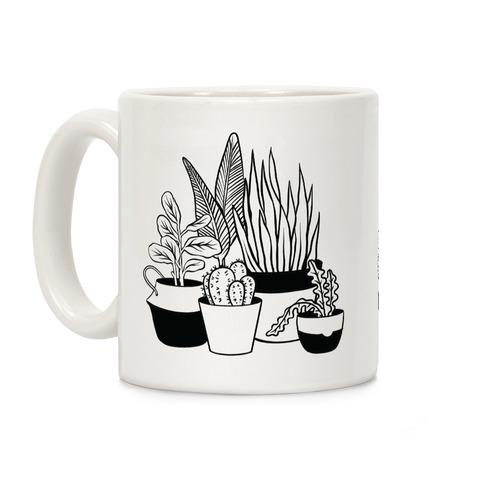 Houseplant Illustration Coffee Mug