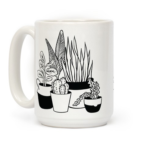 Houseplant Illustration Coffee Mug