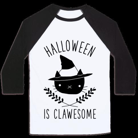 Halloween is Clawesome Baseball Tee