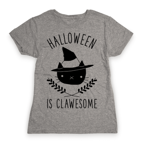Halloween is Clawesome Womens T-Shirt