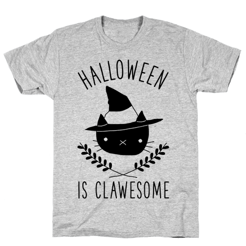 Halloween is Clawesome Mens T-Shirt