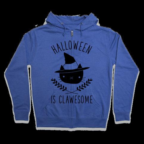 Halloween is Clawesome Zip Hoodie
