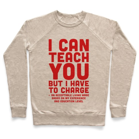 I Can Teach You But I Have to Charge an Acceptable Living Wage Pullover