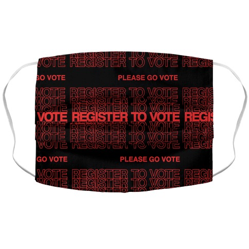 Register To Vote Thank You Bag Parody Accordion Face Mask