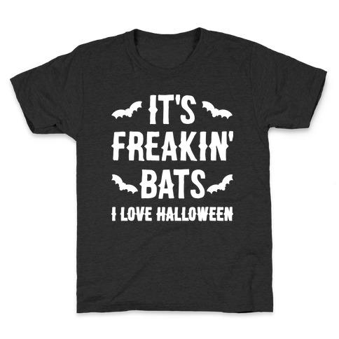 It's Freakin' Bats I Love Halloween Kids T-Shirt