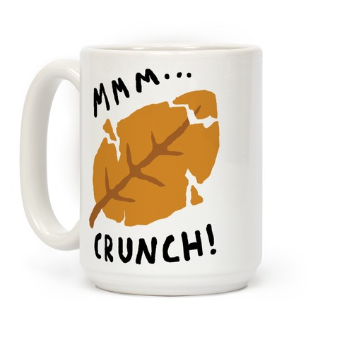 Mmm Crunch Fall Leaf Coffee Mug