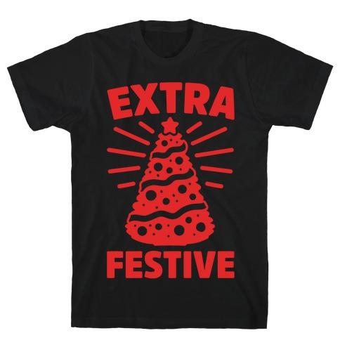 Extra Festive White Print T-Shirt