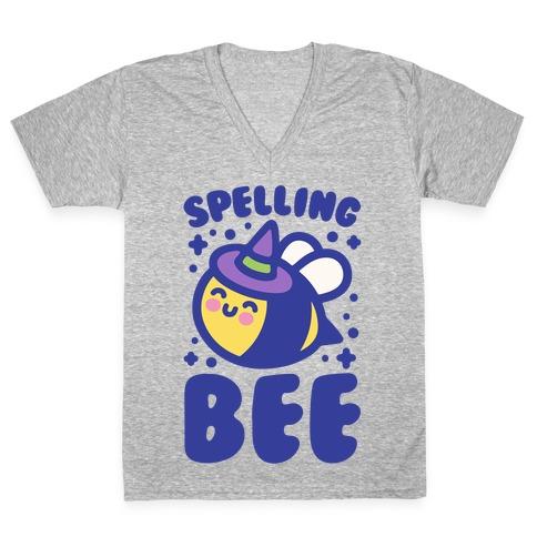Spelling Bee V-Neck Tee Shirt