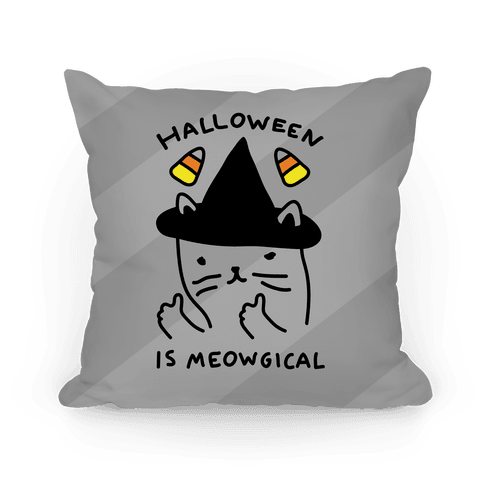 Halloween Is Meowgical Pillow