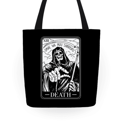 Omae Wa Mou Shindeiru Death Tarot Card Tote