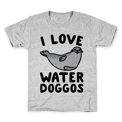 I Love Water Doggos  Kids T-Shirt