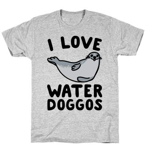 I Love Water Doggos T-Shirt