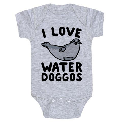 I Love Water Doggos Baby Onesy
