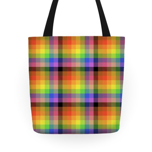 Pride Flag Plaid Tote