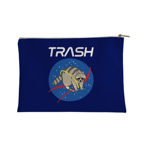 Trash Raccoon Nasa Logo Parody White Print Accessory Bag