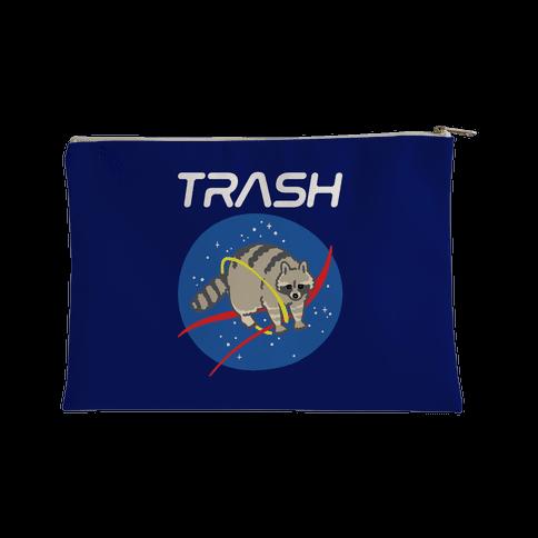 Trash Raccoon Nasa Logo Parody White Print Accessory Bag