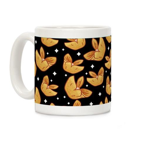 Crab Rangoons Pattern Black Coffee Mug