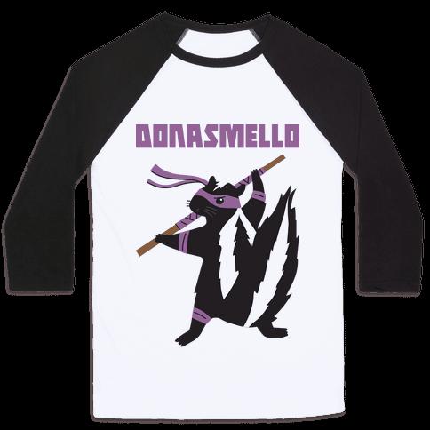 Donasmello (Donatello Skunk) Baseball Tee