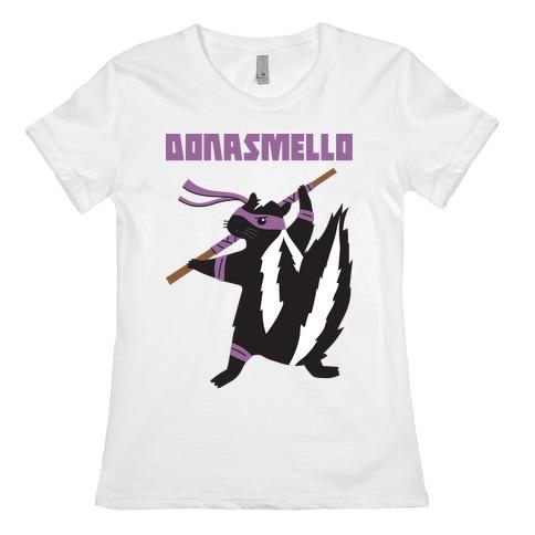 Donasmello (Donatello Skunk) Womens T-Shirt