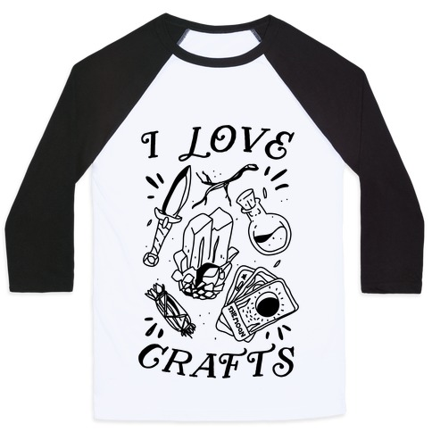 I Love (Witch) Crafts Baseball Tee