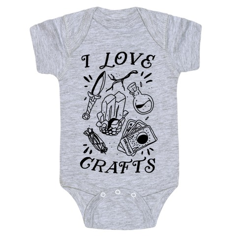 I Love (Witch) Crafts Baby Onesy