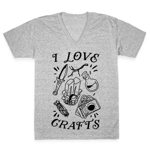 I Love (Witch) Crafts V-Neck Tee Shirt