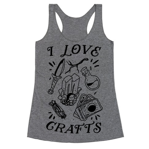 I Love (Witch) Crafts Racerback Tank Top